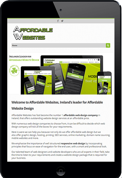 Responsive Website Design by www.affordablewebsites.ie