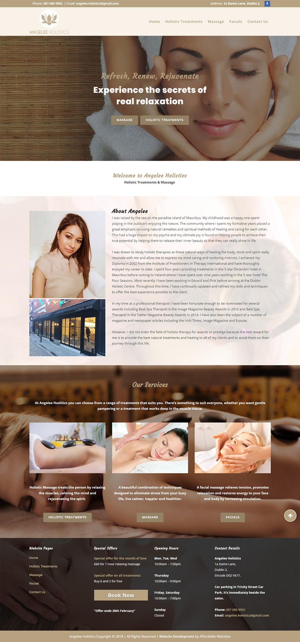 Angelee Holistics Website