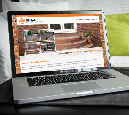 Behan Bricklaying Website Design