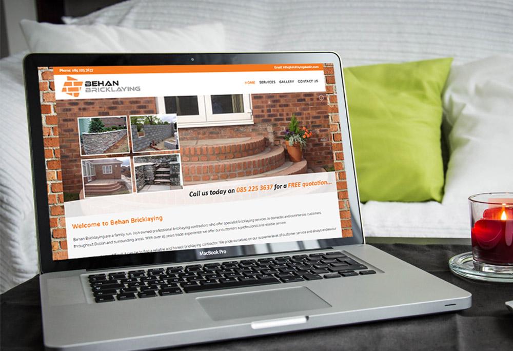 Behan Bricklaying Website Design