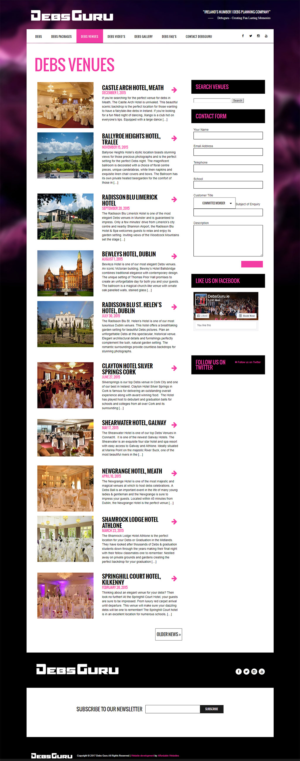 Debsguru Debs Website Design by www.affordablewebsites.ie