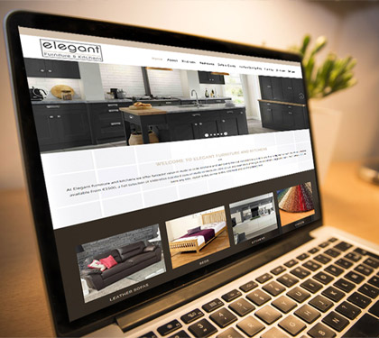 Elegant Furniture and Kitchens Website by www.affordablewebsites.ie