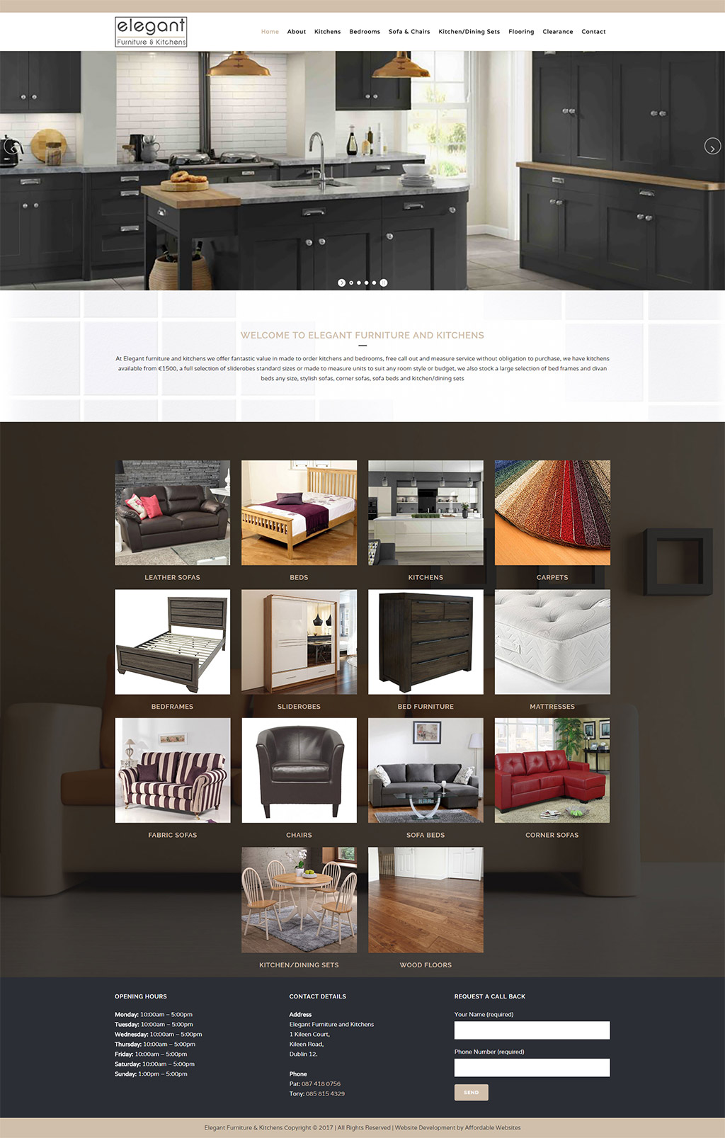 Elegant Furniture and Kitchens Website