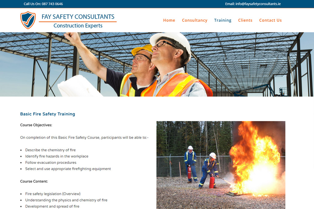 Fay Safety Consultants website by www.affordablewebsites.ie