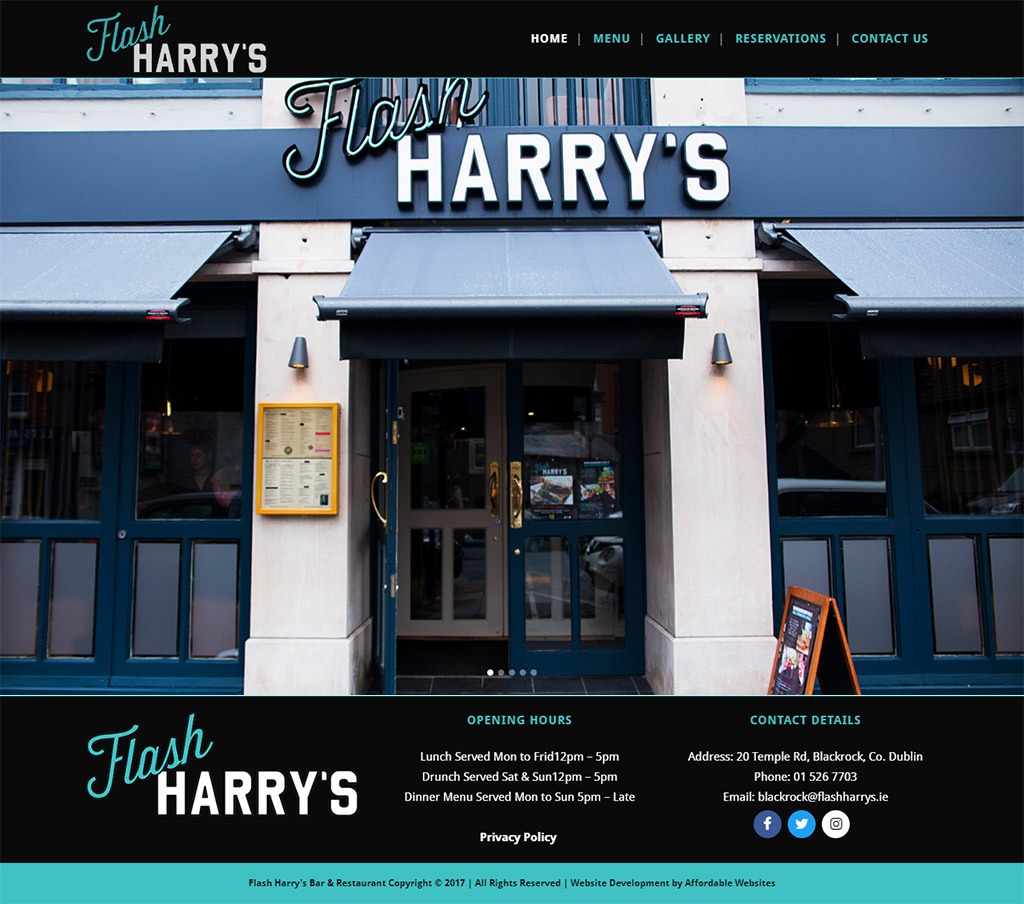 Flash Harrys Website