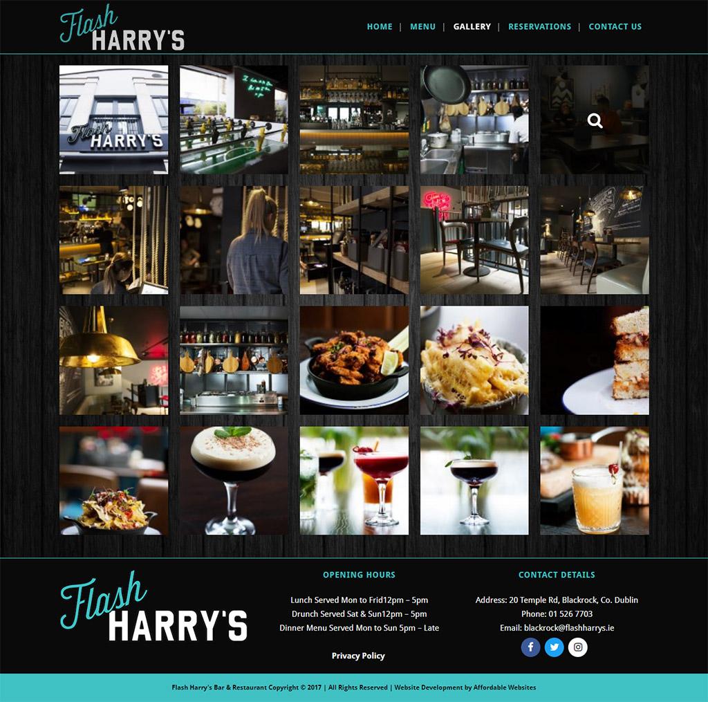 Flash Harrys Restaurant Website