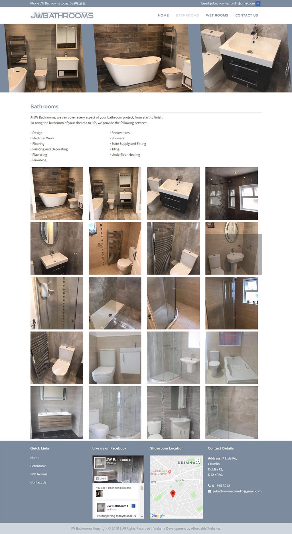 JW Bathrooms Website