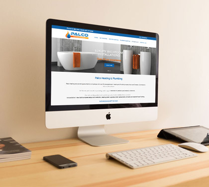Heating and Plumbing website design dublin