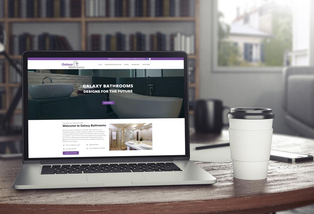 Bathroom website design example