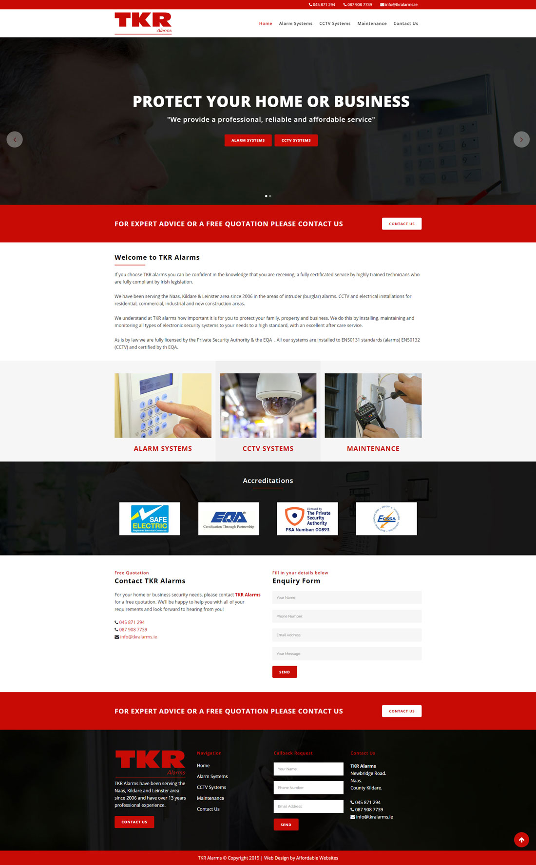 Alarm Company Website
