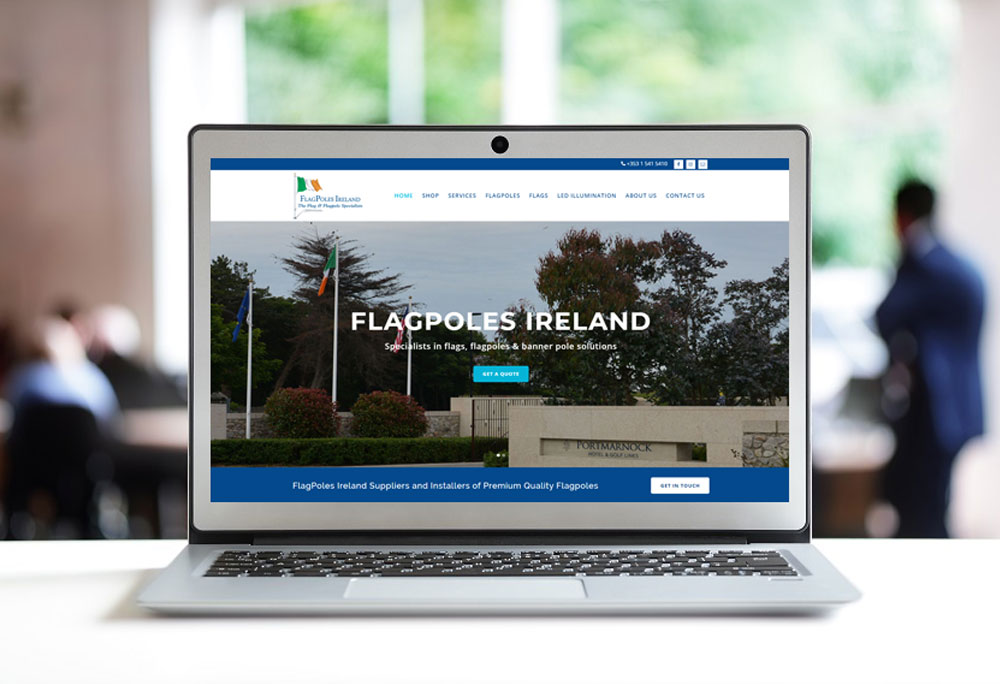 Website Designer for Flagpoles Ireland