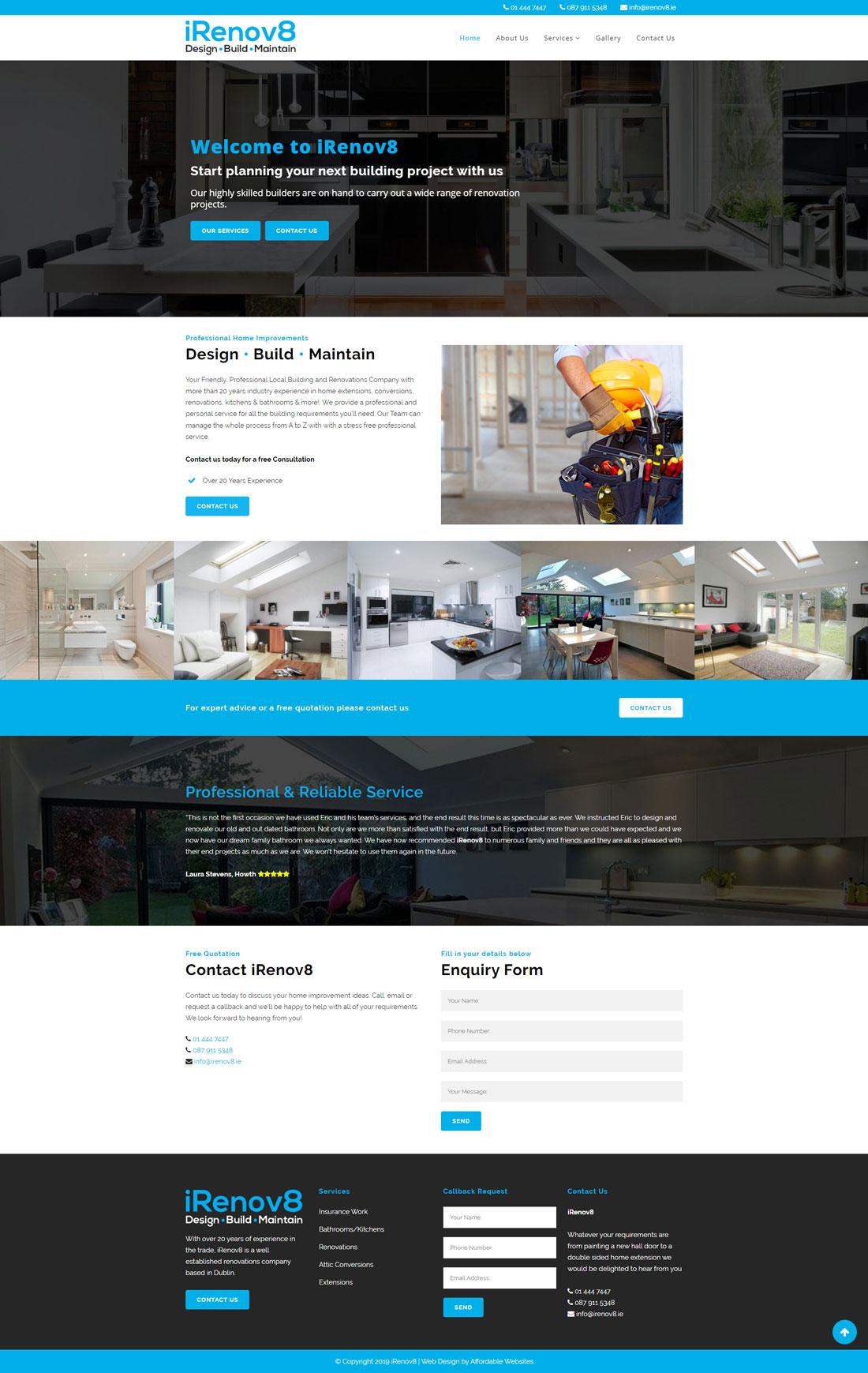 Small Business Website iRenov8.ie