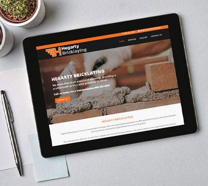 Bricklayer Website Design Ireland