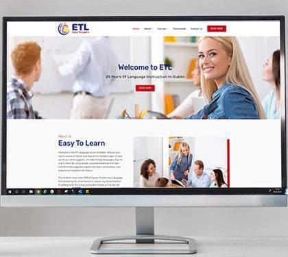 Language School Web Design Dublin