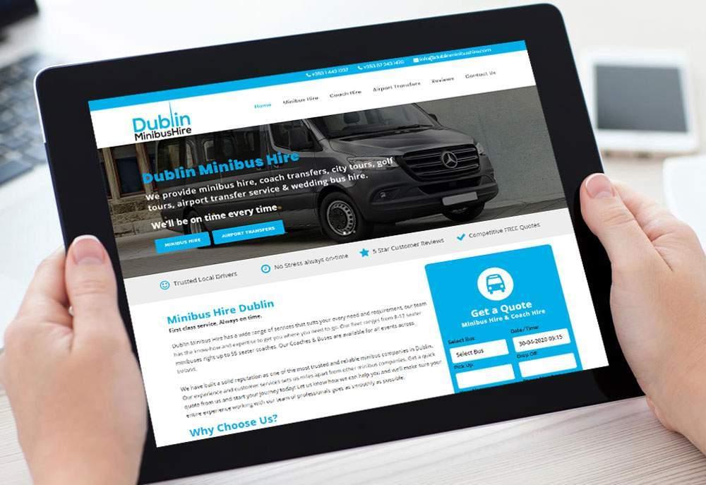 Dublin Minibus Hire Website Redesign