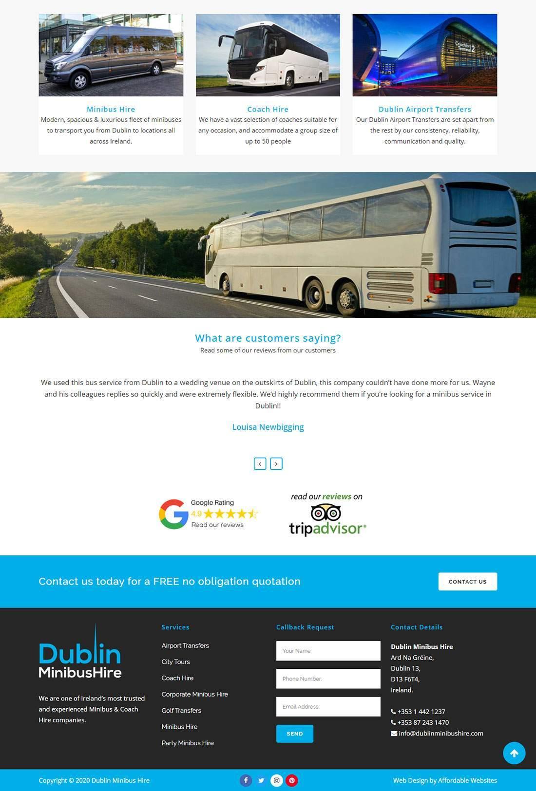 Minibus Hire Website Redesign