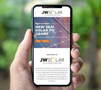 JW Solar panel Website