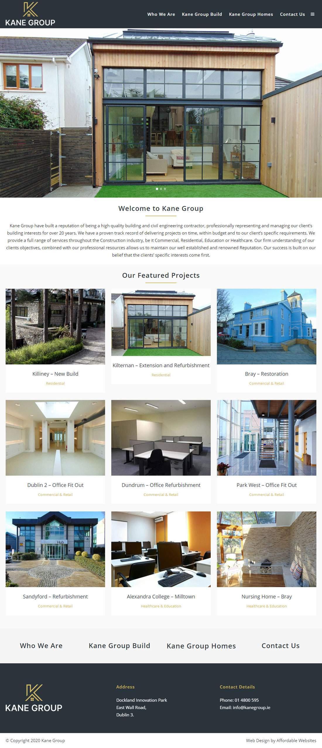 Kane Group Home Page