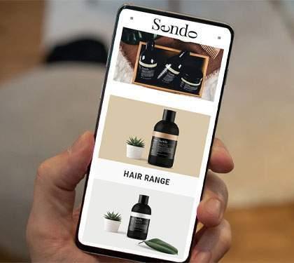 Website Designed for Sendo Hair Care
